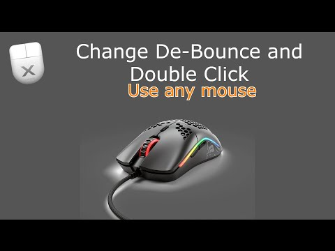 How to Double Click (All Software Related) and change De Bounce time on any mouse! UPDATE VIDEO!!!