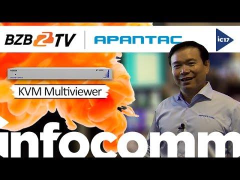 Apantac MiniDE-4-UHD-K Compact 4K/UHD HDMI Multiviewer w/ KVM