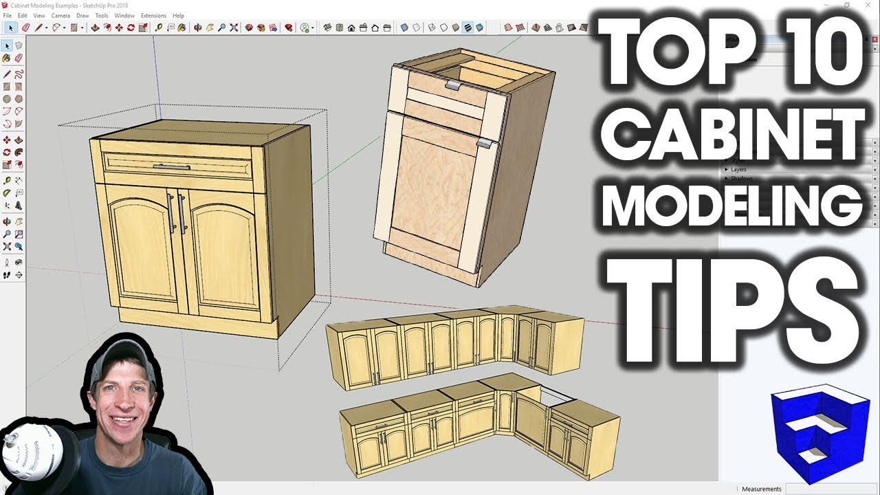 Top 10 Tips for MODELING CABINETS in SketchUp - The SketchUp