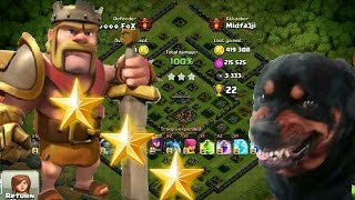 CLASH OF CLANS |3 STARS on Maxed out base at 4600!