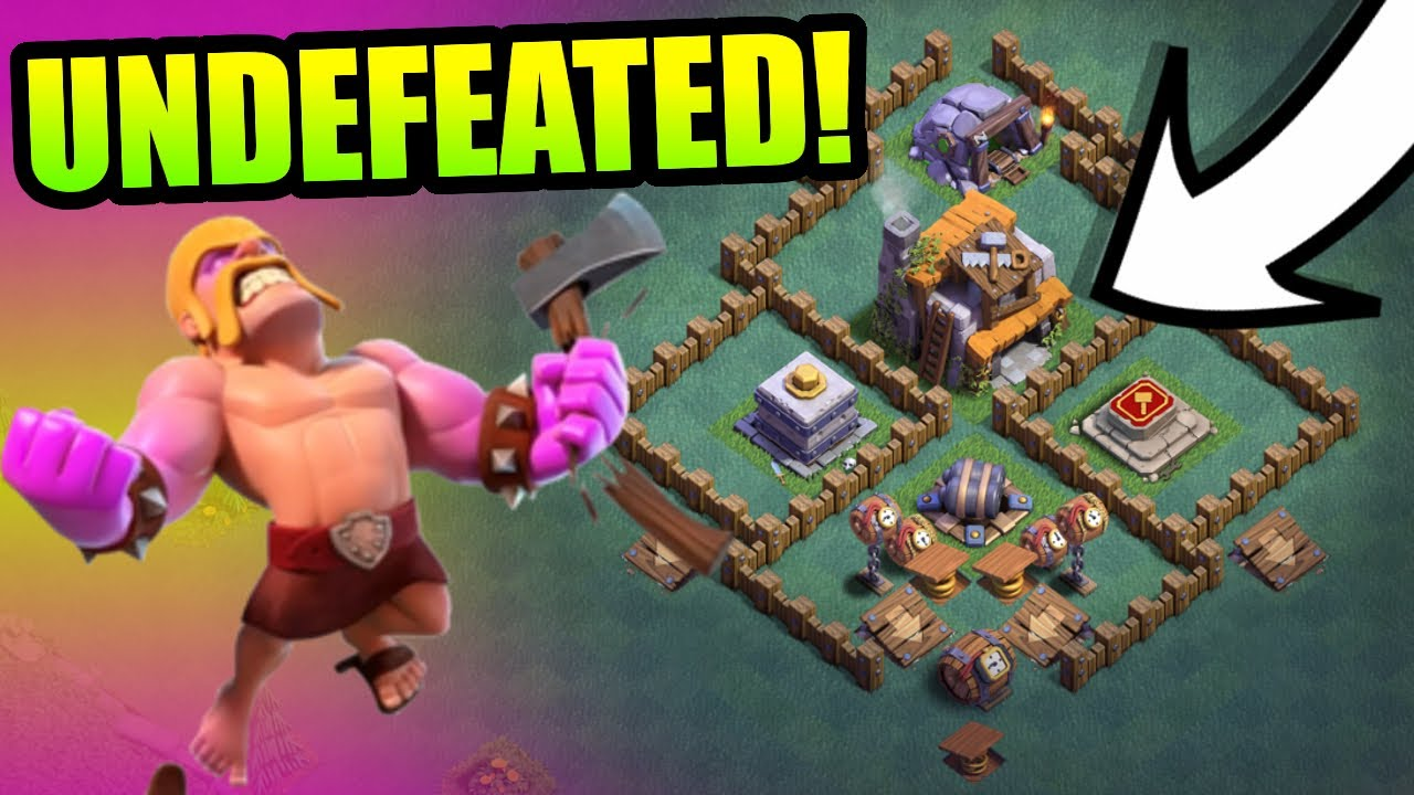 UNDEFEATED BUILDERS HALL 5 BASE CAN ANYONE DEFEAT IT