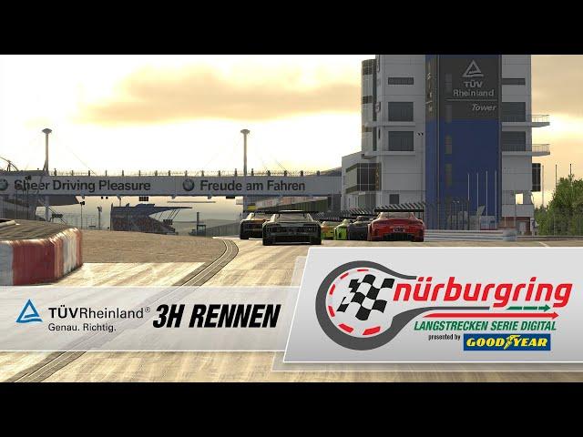 TÜV Rheinland 3h-Rennen – Rennen 3 Digitale Nürburgring Langstrecken-Serie presented by Goodyear