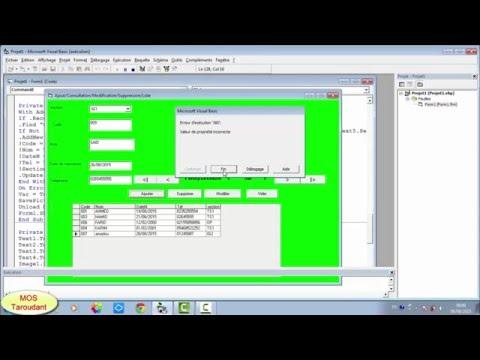 vb6:Accès aux bases de données via ADODC: Leçon7: Projet complet