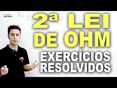 Exercícios resolvidos - Segunda Lei de Ohm