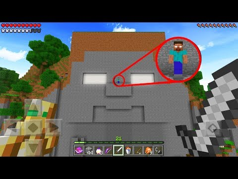 He FOUND The Temple of HEROBRINE in Minecraft Pocket Edition..