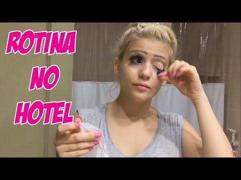 TENTEI FAZER MINHA ROTINA DA NOITE NO  HOTEL E OLHA SÓ O QUE DEU..