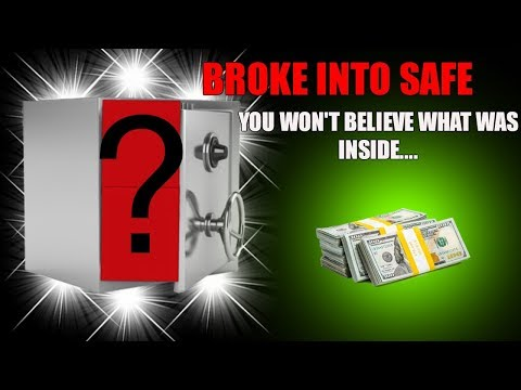 BREAKING INTO LOCKED SAFE FULL OF MONEY! Abandoned Safe With Money Jackpot Inside!