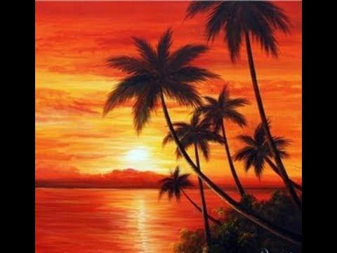 Sunset Painting Ideas Ii Sunset Painting Ii Sunset Seascape Acrylic Painting Youtube