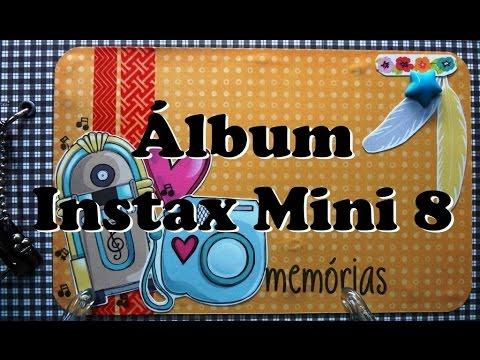 Album Scrapbook Instax Mini 8 - Papéis Goodies