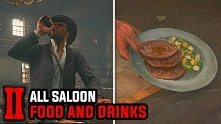 All Food and Drinks on Every Saloon (All Meals, Dishes & Beverages) - Red Dead Redemption 2