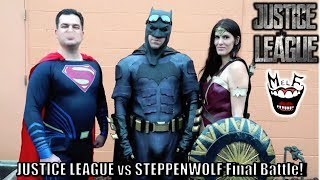 JUSTICE LEAGUE vs STEPPENWOLF Final Fight Parody! Batman Superman Wonder Woman Flash Aquaman Cyborg