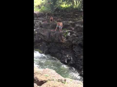 Ho'opi'i Falls Water fall Jump