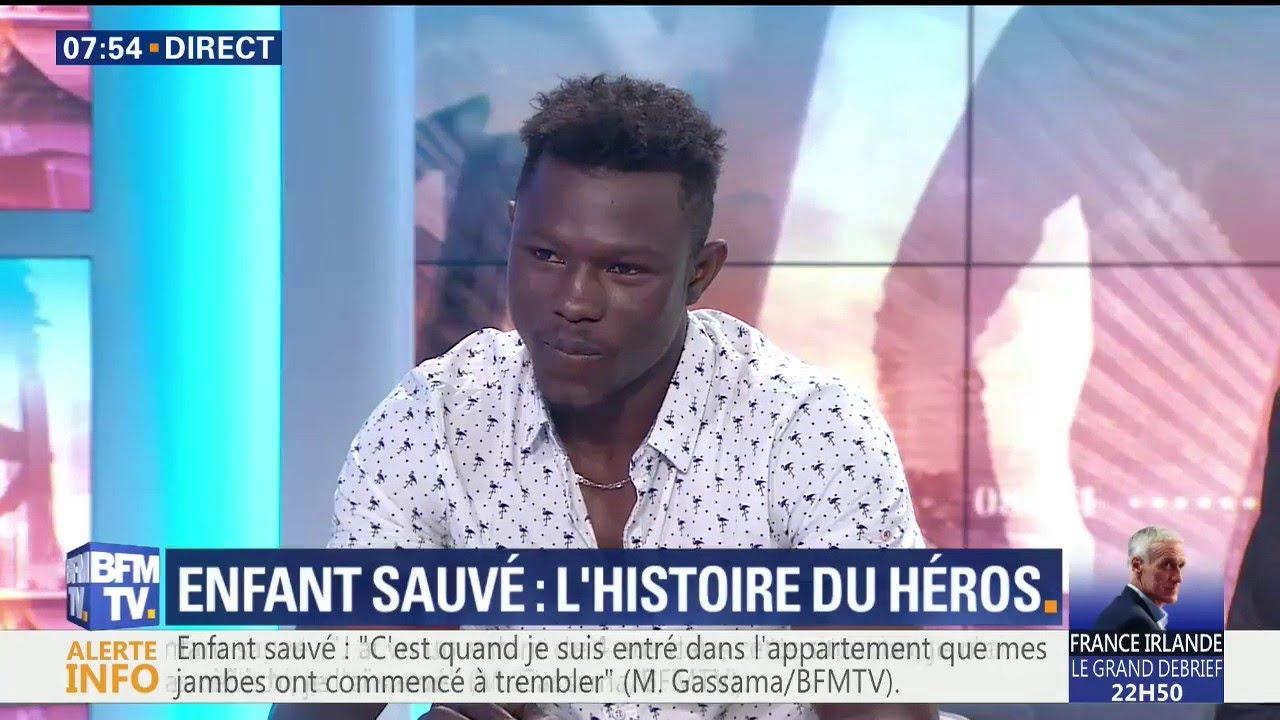 Enfant sauvé d'une chute | l'intégralité du témoignage de Mamoudou Gassama sur le plateau de BFMTV