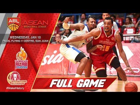 Tanduay Alab Pilipinas vs Singapore Slingers   FULL GAME   2017-2018 ASEAN Basketball League