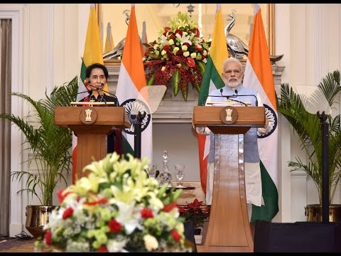 PM Modi at Joint Press Statements with Myanmar State Counsellor Daw Aung San Suu Kyi