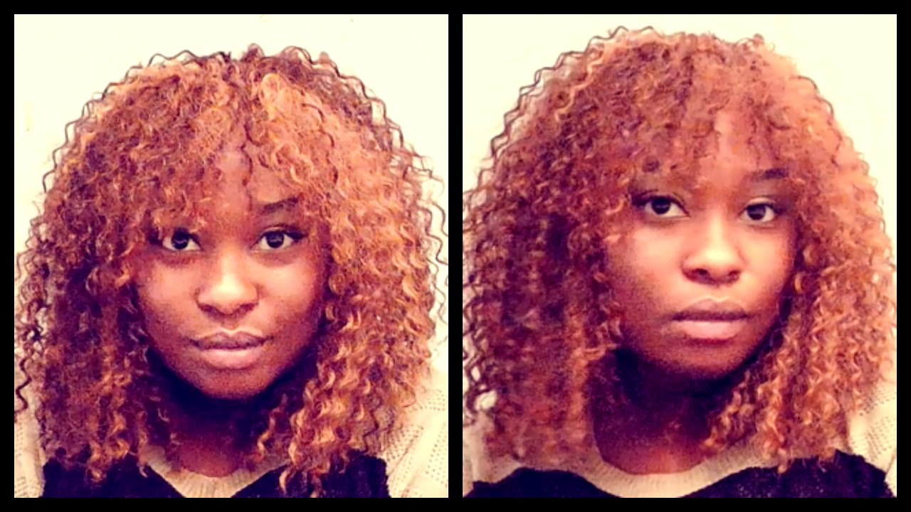 Curly Sew In With Front Bangs No Leave Out (For Beginners