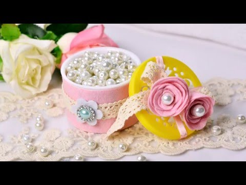 Recycling ideas How to Make a Delicate Jewelry Box from Old Boxes