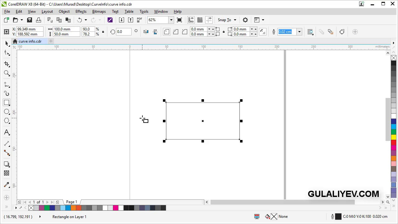 How to measure line length in CorelDraw