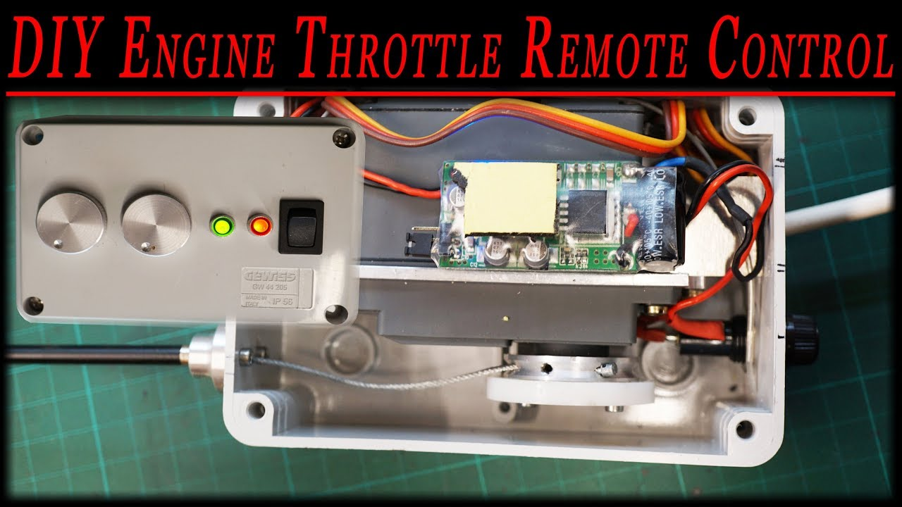 Tractor Throttle Control : Rc tractor remote control diy engine throttle