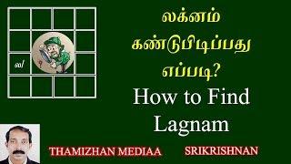 லக்கினம் கண்டுபிடிப்பது எப்படி? | How to find laknam | How to find Lagnam in tamil | Srikrishnan
