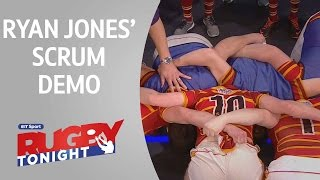 Ryan Jones' scrum demo | Rugby Tonight