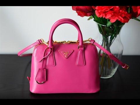 Prada Patent Pink Vernice Promenade Bag Purse Review