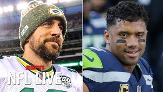Why Aaron Rodgers, Russell Wilson and Matt Ryan are the NFL's most secure QBs | NFL Live