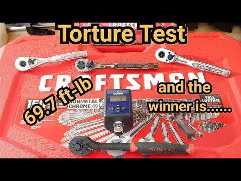 Craftsman GunMetal vs Craftsman USA vs Craftsman China vs Harbor Freight ratchet Torture Test