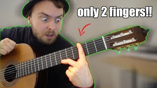 I play with ONLY 2 FINGERS!! (like Django Reinhardt)