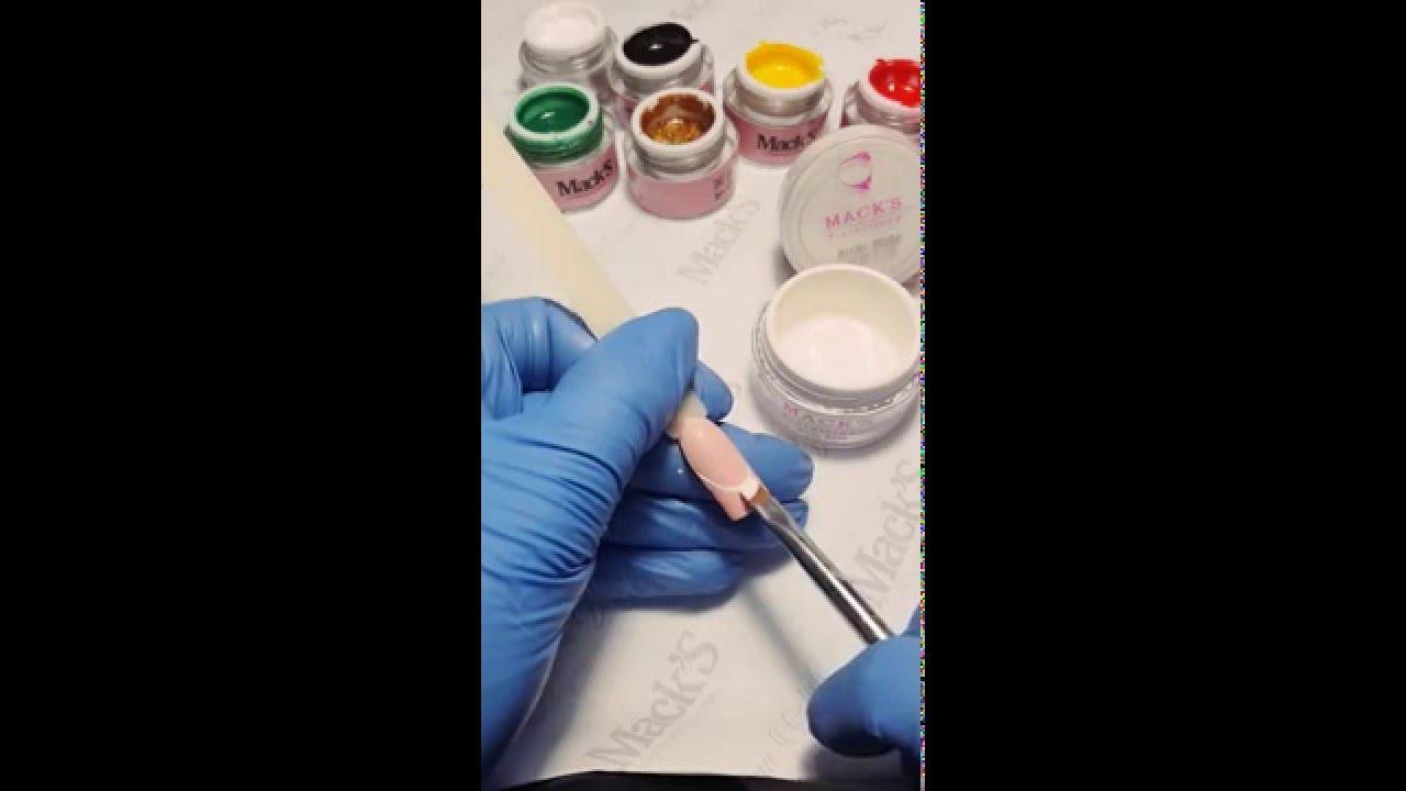 Как сделать френч гель краской фото 290