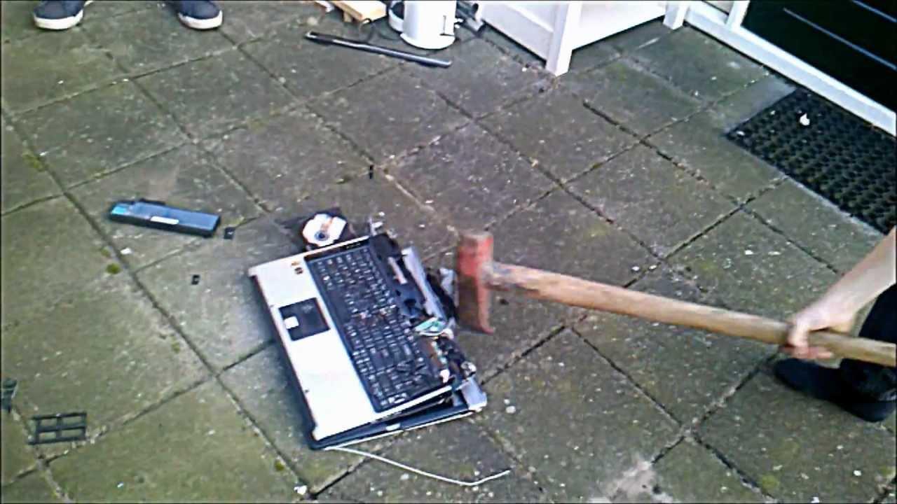 laptop destroyed youtube