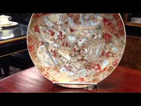 Asian antiques, We buy Asian antiques, Antique Satsuma charger from Gannon's Antiques