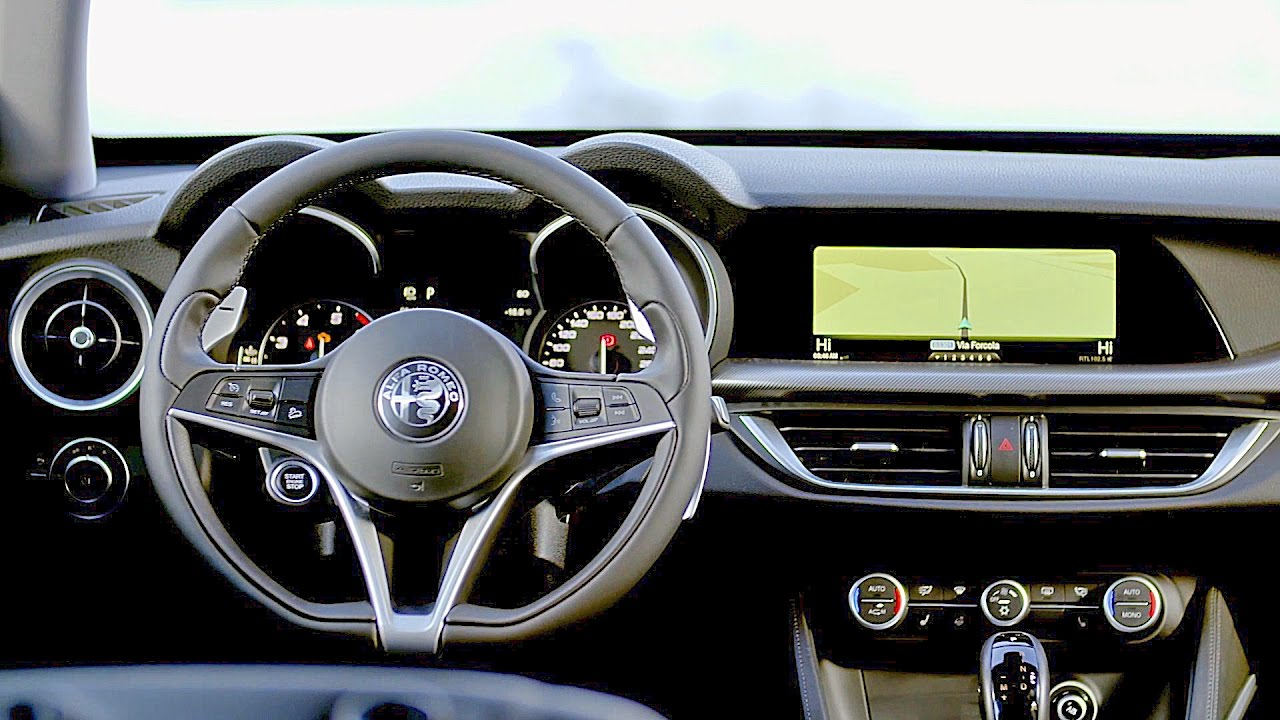 alfa romeo stelvio interior youtube. Black Bedroom Furniture Sets. Home Design Ideas