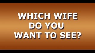 """""""Which wife do you want to see?"""" - Krishnamurti"""