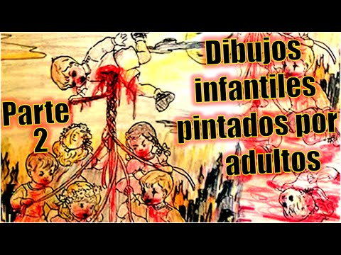 Libros Para Colorear Pintados Por Adultos Una Vision Perturbadora
