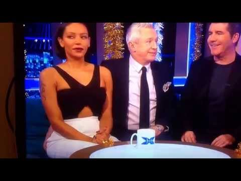 Louis Walsh enjoying Mel B bum on the xfactor