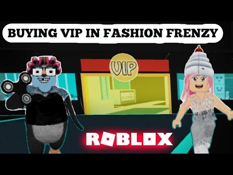 Roblox Buying Vip In Fashion Frenzy Game Play Youtube