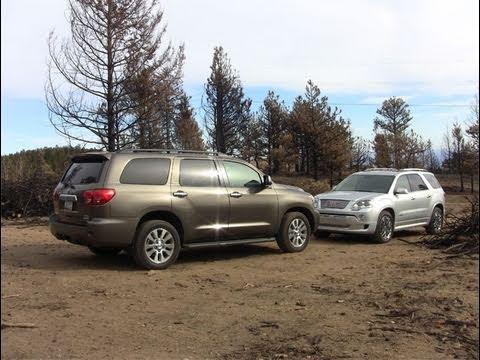 Toyota Sequoia Vs 4Runner >> 2011 Gmc Acadia Vs Toyota Sequoia Mashup Drive Review