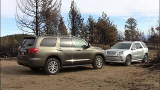 2011 GMC Acadia vs. Toyota Sequoia Mashup Drive & Review