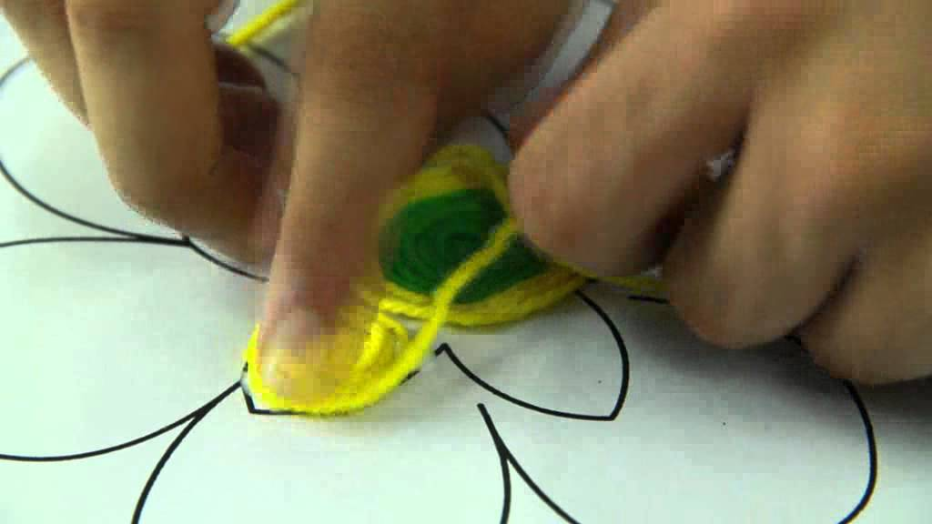 Woolen Rangoli Art And Craft Videos Youtube