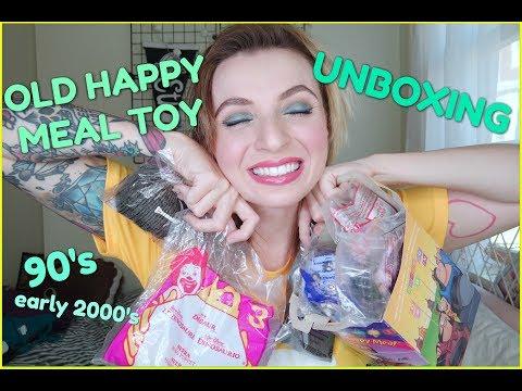 Silly Vintage Happy Meal Toy Unboxing! Barbie, tamagotchi, beanie ba, Pokemon!