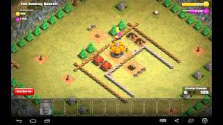 Two Smoking Barrels - Town Hall Level 1 - 13 Barbarians - Simple Clash of Clans