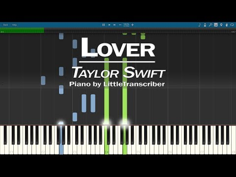 Taylor Swift - Lover (Piano Cover) Synthesia Tutorial by LittleTranscriber thumbnail