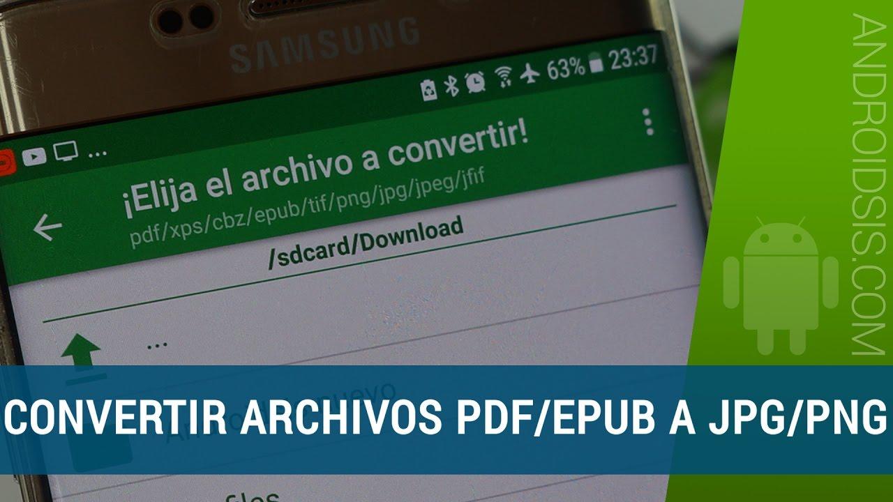 Cómo convertir PDF, XPS, TIFF, ePUB, JFIF y CBZ a JPG o PNG fácilmente