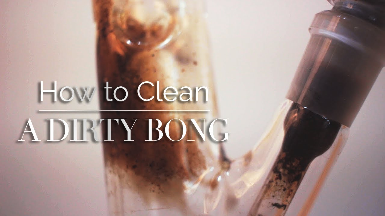 How to Clean a Glass Bong with Salt and Alcohol by Purr
