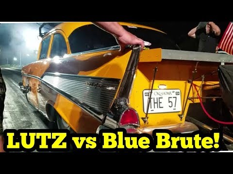 Jeff Lutz vs Canadian Blue Brute Nitrous Camaro!!