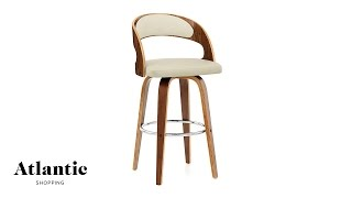Alicia Walnut Bar Stool