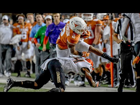 Texas Vs. Oklahoma State Football Highlights