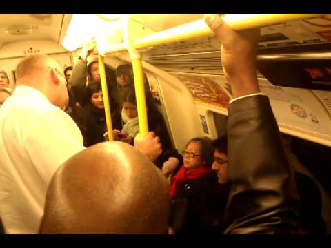 Old lady pulls the alarm in Kentish town (Northern Line) peak time in  4th Tube strike