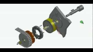 Принцип работы зубчатой электромагнитной муфты(Электромагнитная зубчатая муфта в составе с цепной звездочкой НПП
